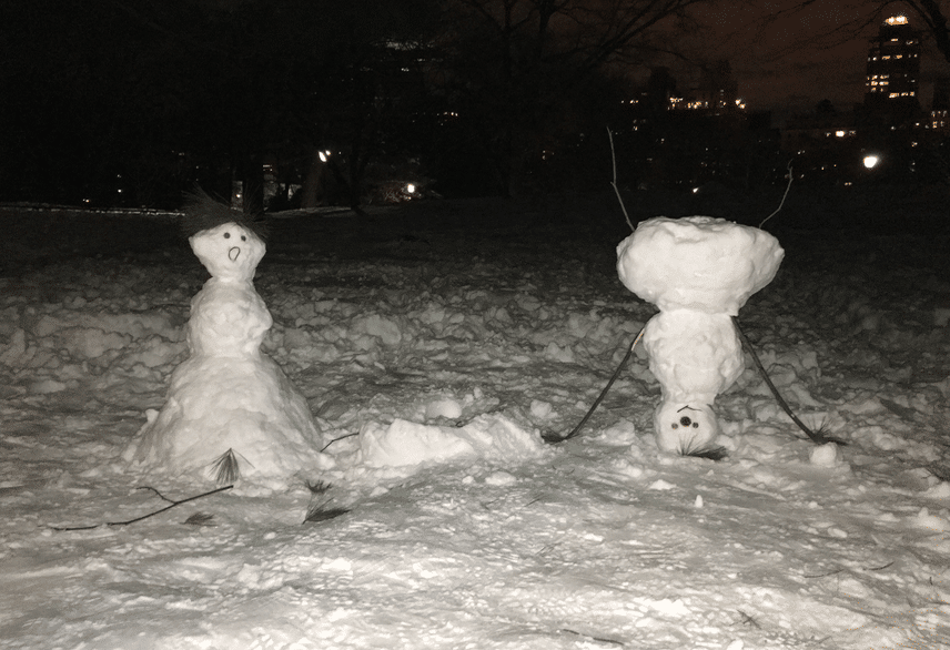 PEOPLE ARE SO CLEVER AND SO FUNNY. And so good with snow! (But are they good with deli meats?)