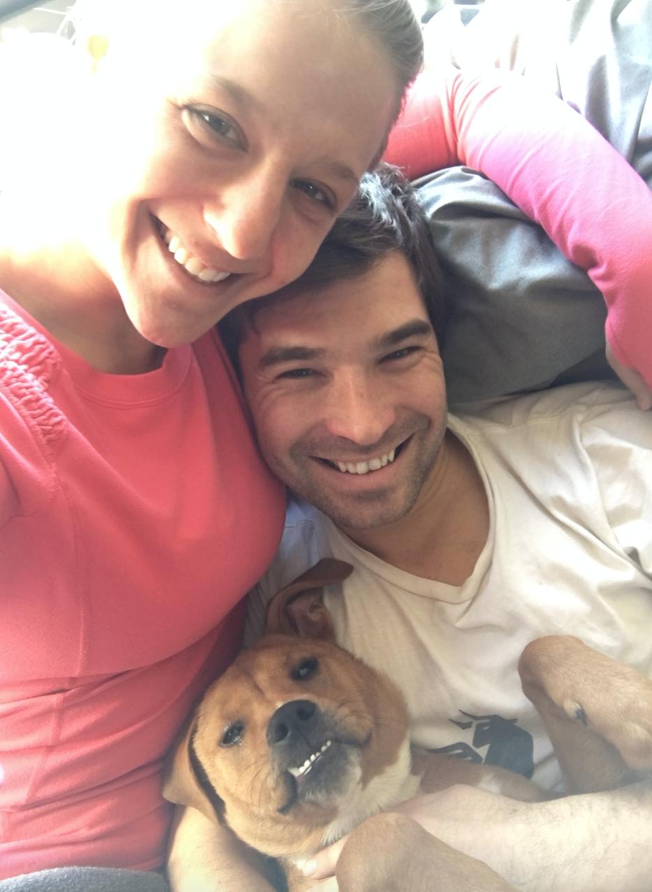 Family snuggle selfie!